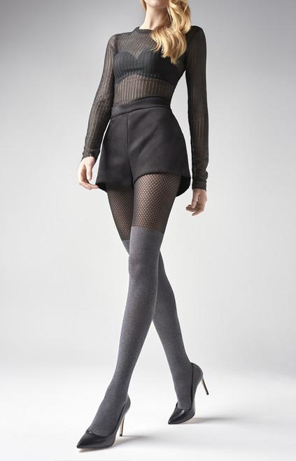 High Waist Slimming 100 Denier Black Opaque Tights Marylin Talia Control Hosier