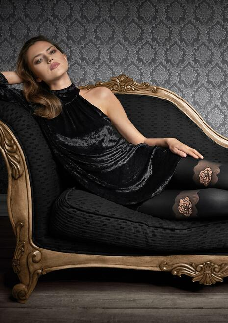 Patrizia Gucci for MARILYN opaque designer tights G49