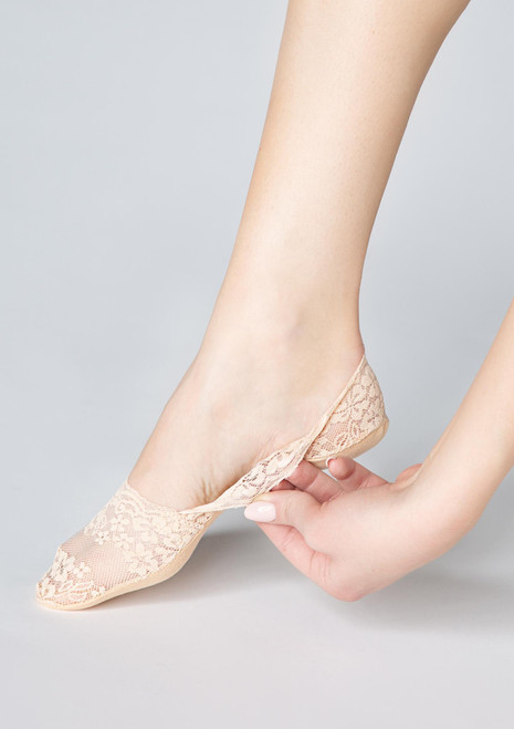Marilyn Lace Footies P29 with silicon grip Beige 2