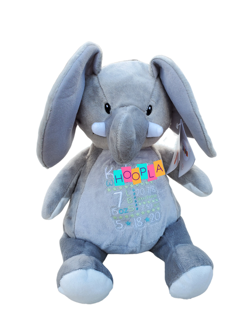 Birth Announcement Elliot Elephant