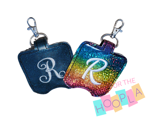 Glitter Monogrammed Hand Sanitizer Holder