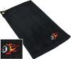 Ozone Billiards Fire 8 Ball Towel - Black - Free Personalization