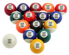 Custom Pool Balls Set - Personalized Text