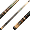Pure X Cues - Natural Birdseye Maple with Zebrawood, Abalone and Bone HXTE12
