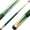 Lucasi Cues - Natural Birdseye Maple with Majestic Emerald Inlays LZC18