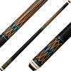 Players Cues - Black and Antique Maple with Black Blue Recon Graphic E2331