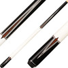 Players Cues - Midnight Black with Ivory and Cocobolo Points G4109