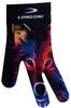 Longoni Billiards Glove Neon Wolf Left Bridge Hand