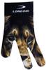Longoni Billiards Glove Neon Lion Left Bridge Hand