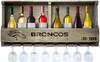 Denver Broncos Bar Shelf Reclaimed Wood