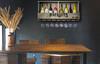 New England Patriots Bar Shelf Reclaimed Wood