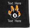 Ozone Billiards 8 Ball Talon Towel - Black - Free Personalization