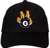 Ozone Billiards 8 Ball Talon Hat - Black - Free Personalization