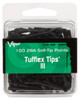 2BA Dart Soft Tips: 2BA Tufflex III Dart Soft Tips - Black - 100 Pack
