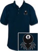 Ozone Billiards 8 Ball Spider Polo Shirt - Navy - Free Personalization