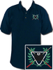 Ozone Billiards Ivy League Polo Shirt - Navy - Free Personalization