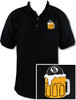 Ozone Billiards Beer Mug Black Polo Shirt - Free Personalization