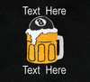 Ozone Billiards Beer Mug Black Polo Shirt - Free Personalization