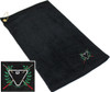 Ozone Billiards Ivy League Towel - Black - Free Personalization