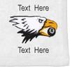Ozone Billiards Screaming Eagle Towel - White - Free Personalization