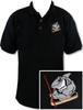 Ozone Billiards Pool Shark Polo Shirt - Black - Free Personalization