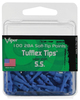Stubbie 2BA Dart Soft Tips: Stubbie 2BA Tufflex Dart Soft Tips - Blue - 100 Pack