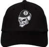 Ozone Billiards 8 Ball Skull Hat - Black - Free Personalization