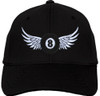 Ozone Billiards 8 Ball Wings Hat - Black - Free Personalization