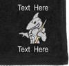 Ozone Billiards Big Shark Towel - Black - Free Personalization