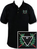 Ozone Billiards Ivy League Polo Shirt - Black - Free Personalization