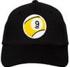 Ozone Billiards 9 Ball Hat - Black - Free Personalization