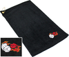 Ozone Billiards Flaming Dice Towel - Black - Free Personalization