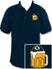 Ozone Billiards Beer Mug Navy Polo Shirt - Free Personalization