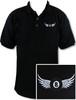 Ozone Billiards 8 Ball Wings Polo Shirt - Black - Free Personalization