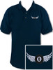 Ozone Billiards 8 Ball Wings Polo Shirt - Navy - Free Personalization