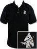 Ozone Billiards Big Shark Black Polo Shirt - Free Personalization