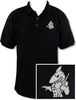 Ozone Billiards Big Shark Black Polo Shirt - Free Personalization