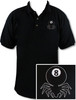 Ozone Billiards 8 Ball Spider Polo Shirt - Black - Free Personalization