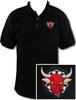 Ozone Billiards Dartboard Bull Black Polo Shirt - Free Personalization