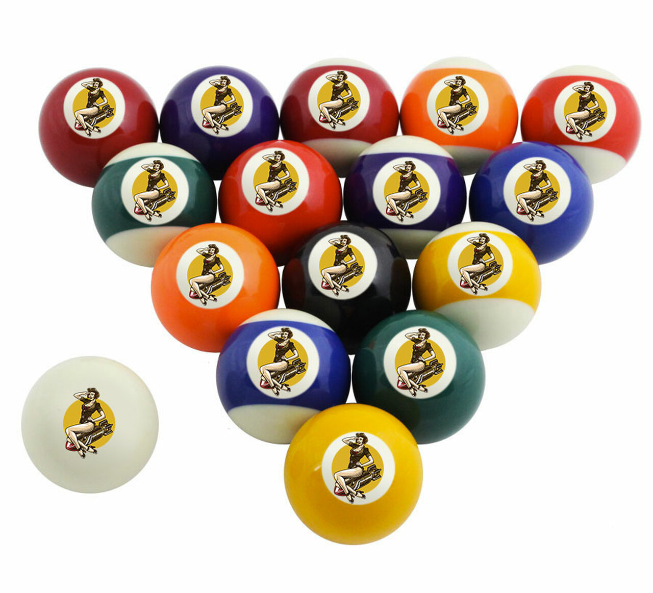 Custom Pool Balls Set Pinup