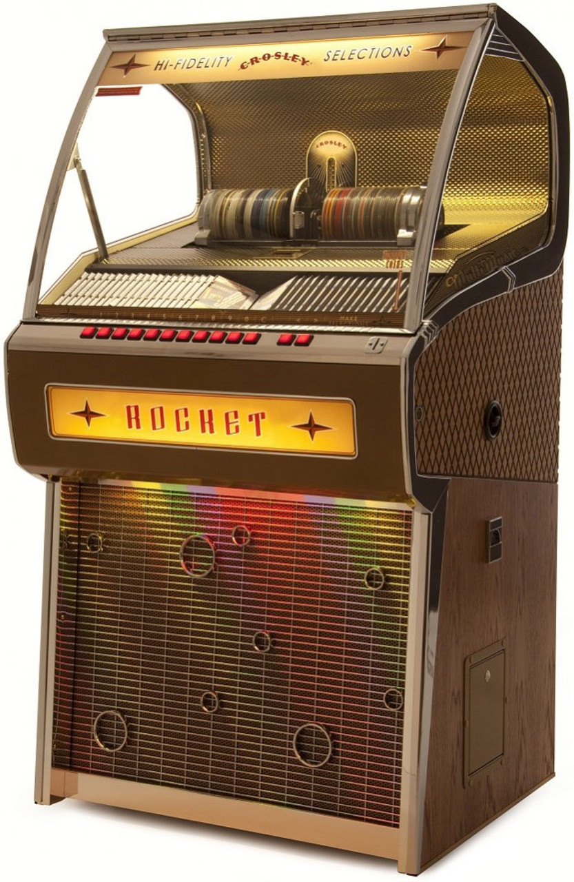 Crosley Jukebox Rocket 80 CD Bluetooth Full Size Oak