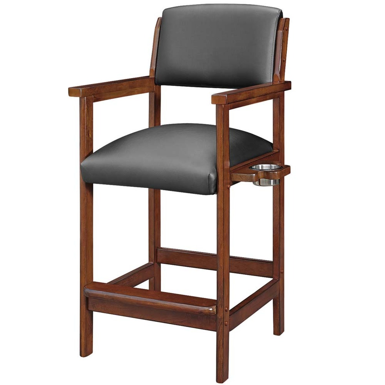 Ram Gameroom Spectator Chair Bar Stool Chestnut