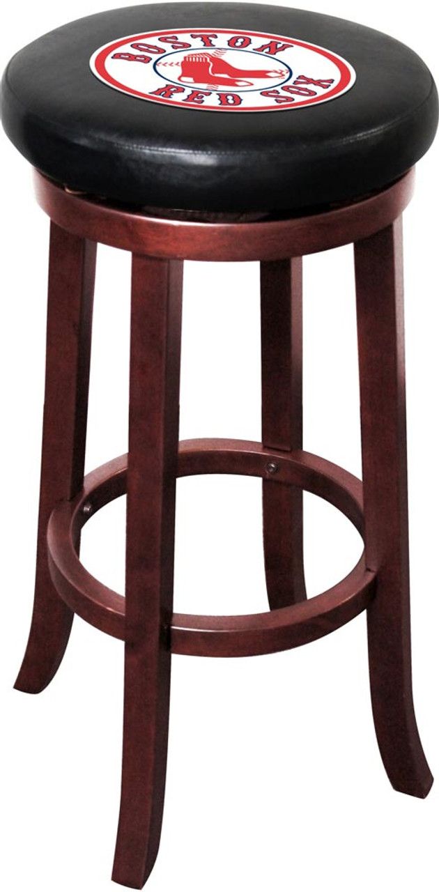 Awe Inspiring Boston Red Sox Wooden Bar Stool Evergreenethics Interior Chair Design Evergreenethicsorg
