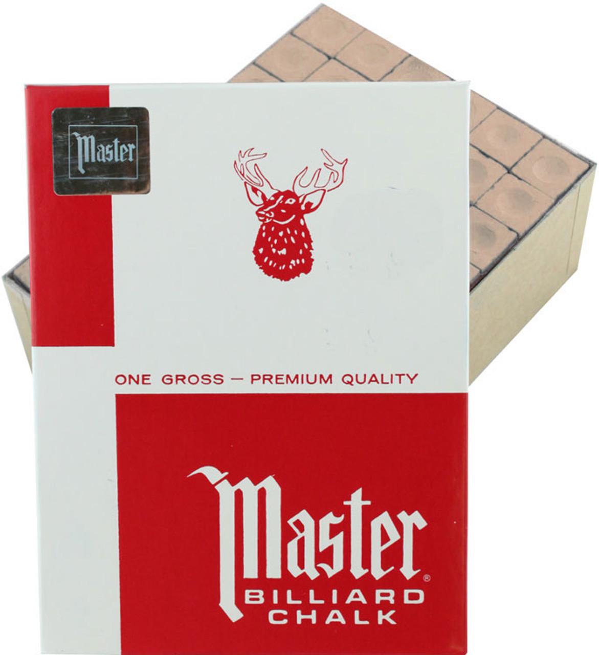 144 Pieces Master Billiard//Pool Cue Chalk Gross -12 Dozen Gold//Tan
