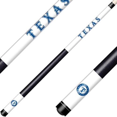 Texas Rangers Cue Laser Etched Billiard Cue