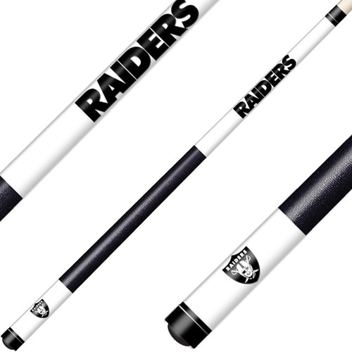 Oakland Raiders Laser Etched Billiard Cue