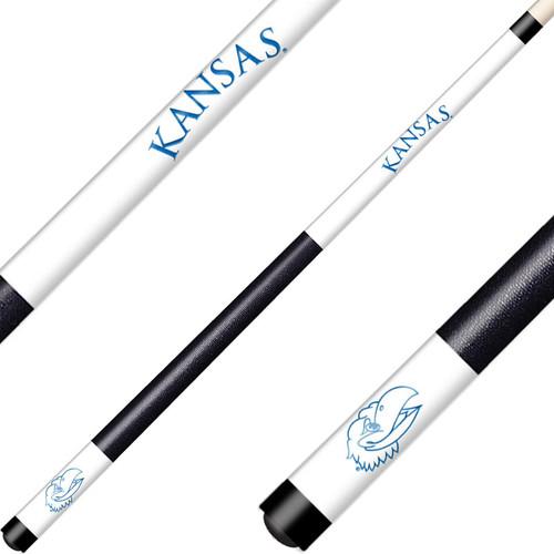 University of Kansas Laser Etched Billiard Cue