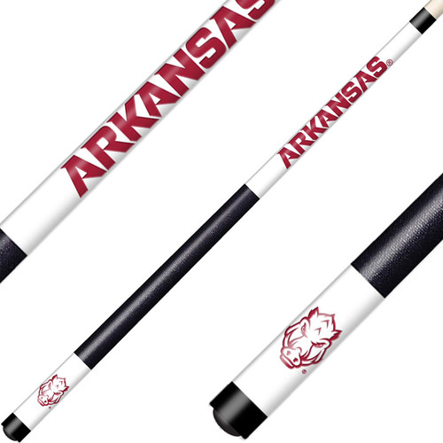 University of Arkansas Laser Etched Billiard Cue