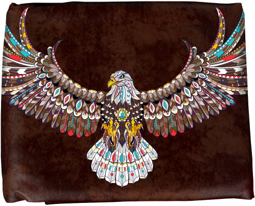Ozone Table Cover Native Eagle - 8 Foot Brown