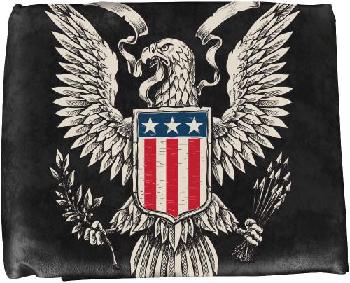 Ozone Table Cover Patriotic Eagle - 8 Foot Black